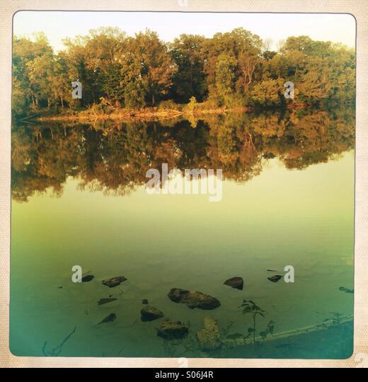 Golden river. - Stock Image