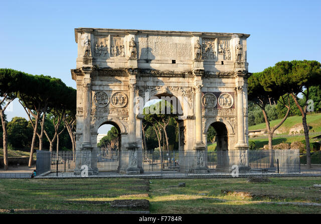 italy, rome, arch of constantine - Stock Image