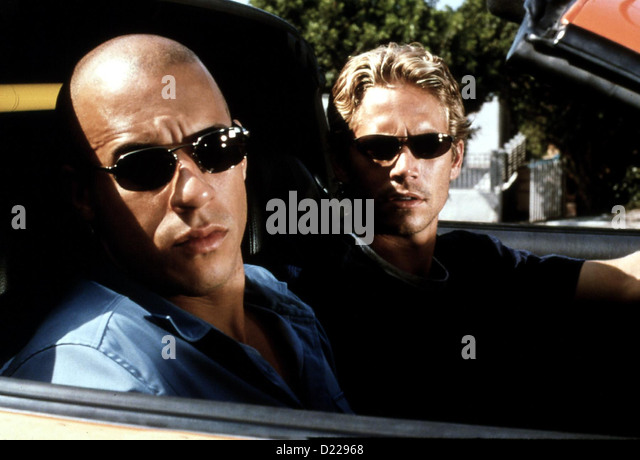 Fast And The Furious, The   --   Paul Walker, Vin Diesel *** Local Caption *** 2001  Universal Pictures International - Stock Image