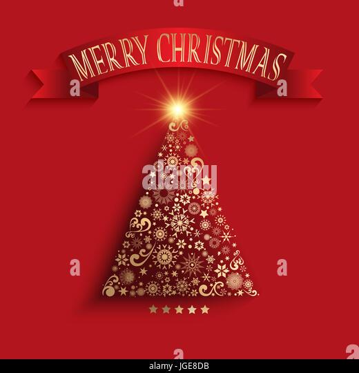 Decorative Christmas tree background - Stock Image