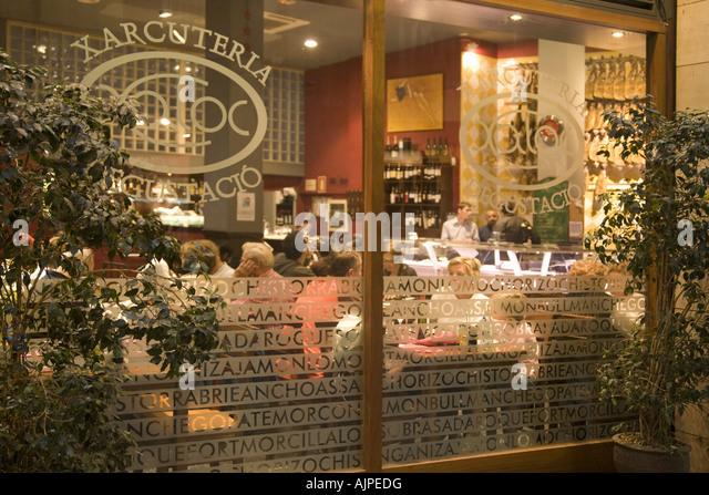 Barcelona Xarcuteria Restaurant in Centro Historico - Stock Image