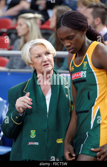 Sydney, Australia. 12th Aug, 2015. Action during the Australia South African 'SPAR Proteas' netball match - Stock Image