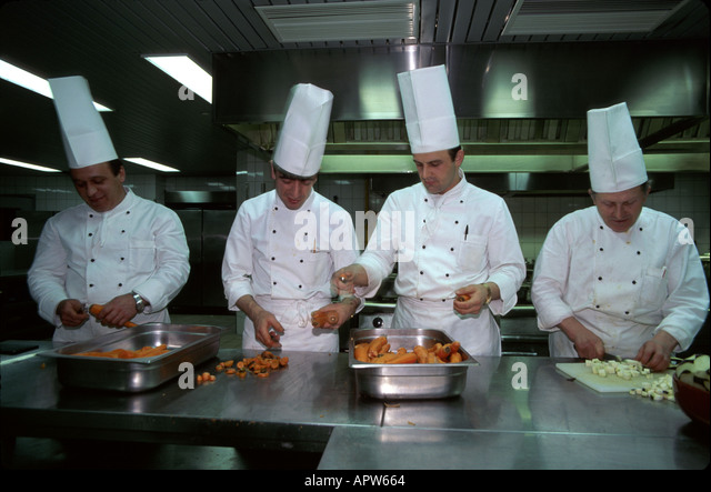Turkey Europe Asia Istanbul Eresin Hotel chefs kitchen - Stock Image