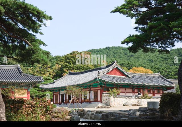 Bogyeong-sa Buddhist temple South Korea - Stock Image