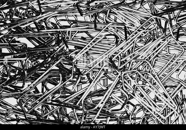 Large Group Of Paper Clips - Stock Image