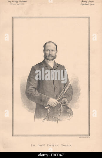 The Honourable Frederic Morgan, antique print 1888 - Stock Image