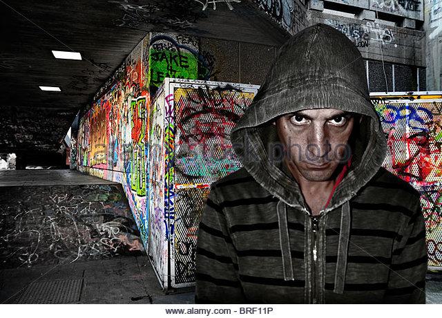 graffiti artist - Stock Image