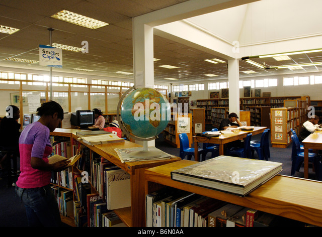 Library and Learning Resources centre Langa Capetown South Africa - Stock-Bilder