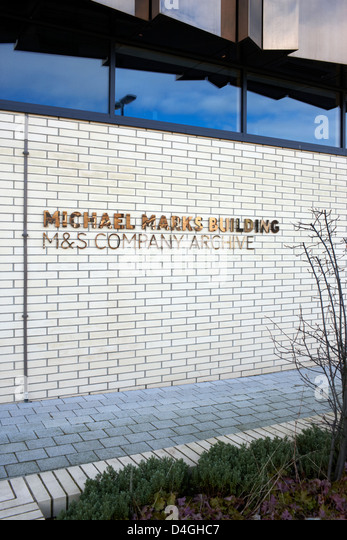 Michael Marks Building on the campus of Leeds University. It houses the M & S company archive and the exhibition - Stock-Bilder
