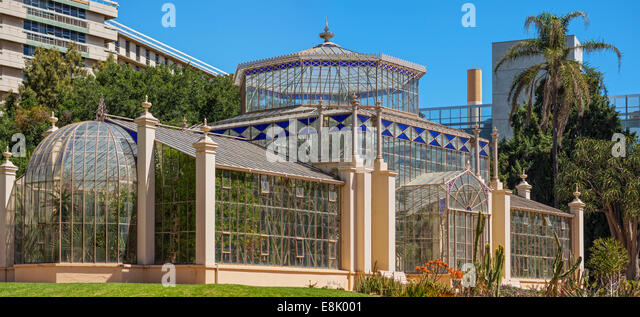 The Palm House at the Adelaide Botanic Gardens, South Australia - Stock Image