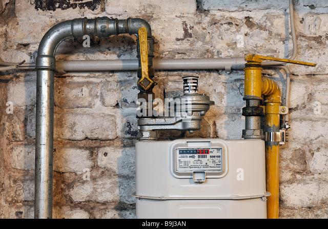 Natural Gas Well Meter : Natural gas meter stock photos