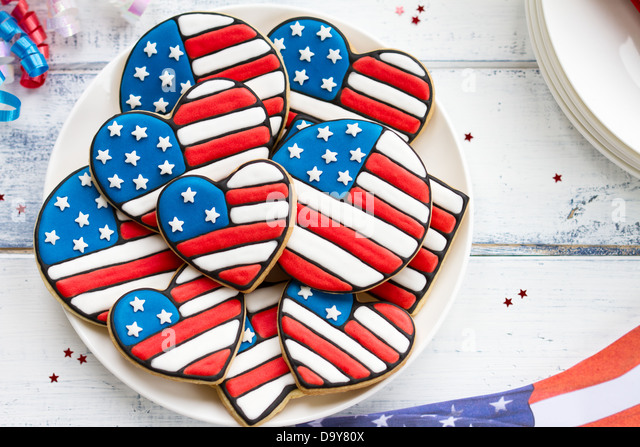 Patriotic cookies - Stock Image