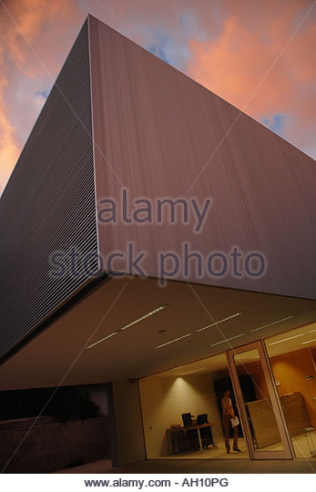 Exterior of a modern office building - Stock Image