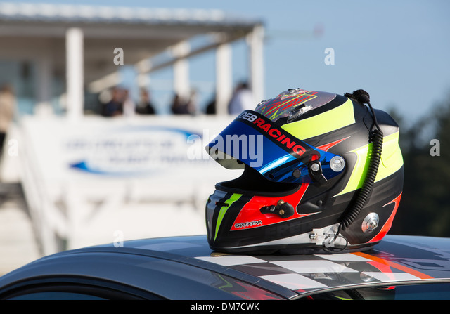 racing car helmet stock photos racing car helmet stock images alamy. Black Bedroom Furniture Sets. Home Design Ideas