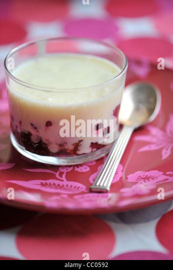 Red Fruits Tiramisu - Stock Image