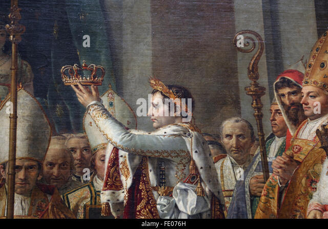 The Coronation of Napoleon(1769-1821) by Jacques-Louis David (1484-1825) in the Cathedral of Notre-Dame, 2 December - Stock-Bilder