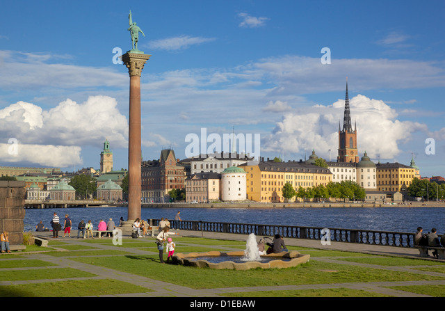 City skyline from City Hall, Stockholm, Sweden, Scandinavia, Europe - Stock Image