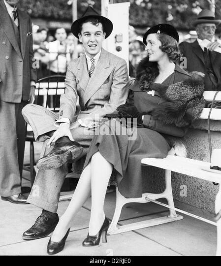 Alfred Gynne Vanderbuilt and Mrs Cornelius Vanderbilt Whitney, August 22, 1936 - Stock Image