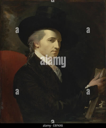 Self-Portrait. Artist: West, Benjamin (1738-1820) - Stock Image