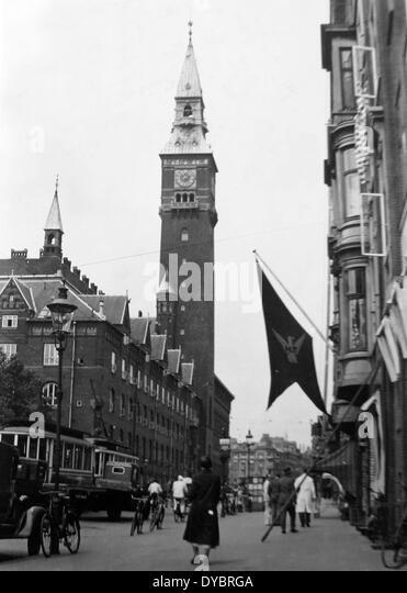 Copenhagen Denmark probably 1930s - Stock Image
