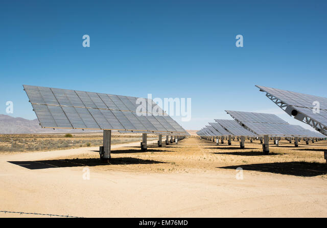 Apr 11, 2015 - Borrego Springs, California, USA - Solar panels at solar energy power plant in Borrego Springs. (Credit - Stock Image