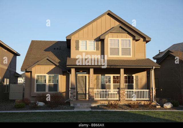 Exterior of suburban home - Stock Image