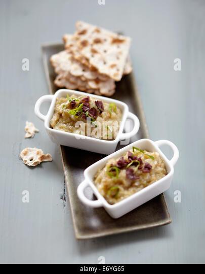Eggplant caviar - Stock Image