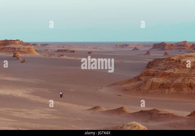 Kaluts in Lut desert in Iran also known as dashte lut , Kerman - Stock Image