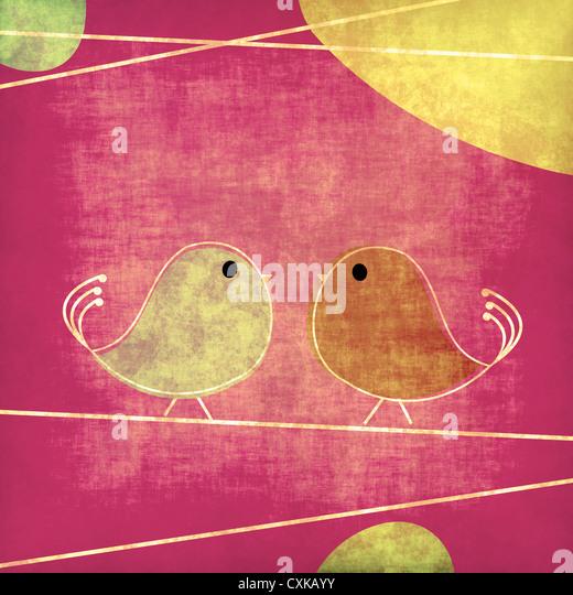 Tweet birds - Stock Image