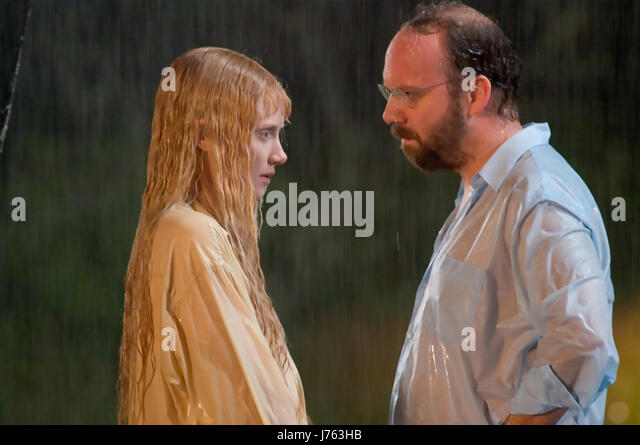 LADY IN THE WATER 2006 Warner Bros film with Bryce Dallas Howard and Paul Giamatti - Stock-Bilder