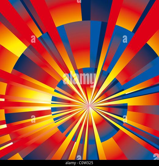Radial rays background - Stock-Bilder