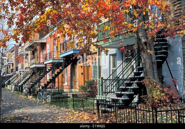 Rue, Parthenais, Montreal, Quebec, Canada - Stock Image