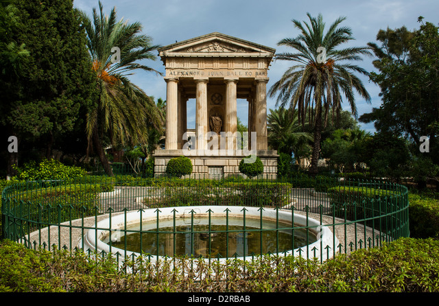 Lower Barrakka Gardens and the Alexander Ball memorial, UNESCO World Heritage Site, Valetta, Malta, Europe - Stock-Bilder