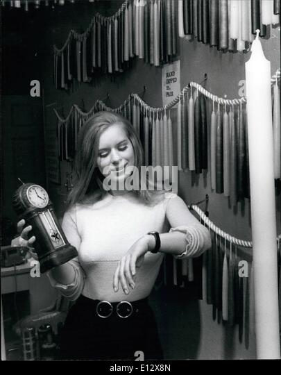 Feb. 25, 2012 - With time to burn? Lovely, blonde Birthe Sector takes a look at an unusual candle, in the shape - Stock Image