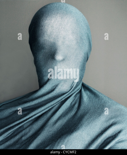 cloth,veiled,anonymous - Stock Image