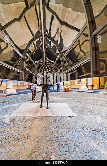 Italy Piedmont Turin Via Po art Exposition in University - Opera by Velasco Vitali - Sbarco - Stock Image