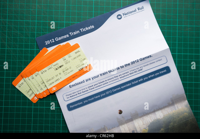 London 2012 Olympic Games travel tickets - arrive at UK residential addresses - editorial usage only - Stock-Bilder