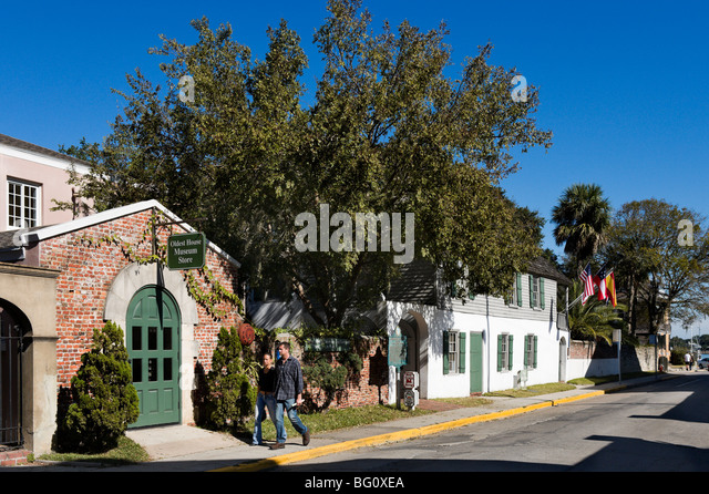 The Oldest House (the González-Alvarez House) and Museum Shop, St Francis Street, St Augustine, Florida, USA - Stock-Bilder