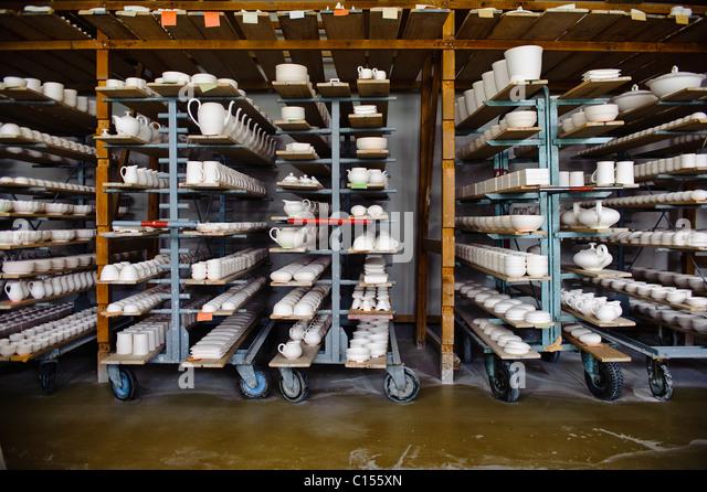 Interior of the Augarten porcelain factory in Vienna - Stock-Bilder