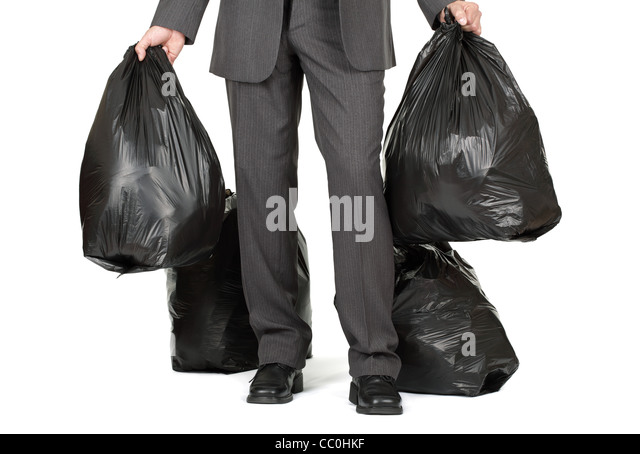 Taking out the trash - Stock Image