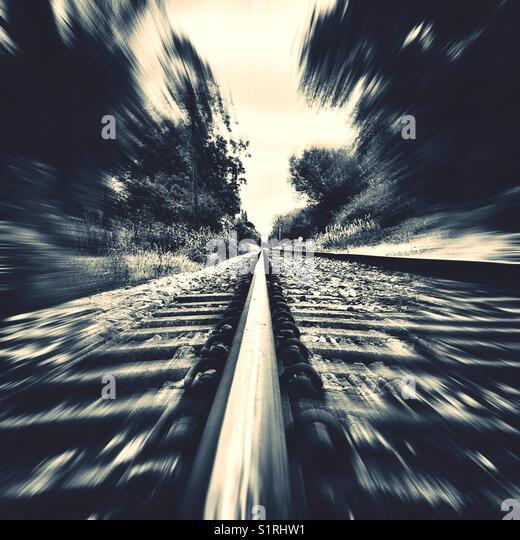 Train tracks - Stock Image