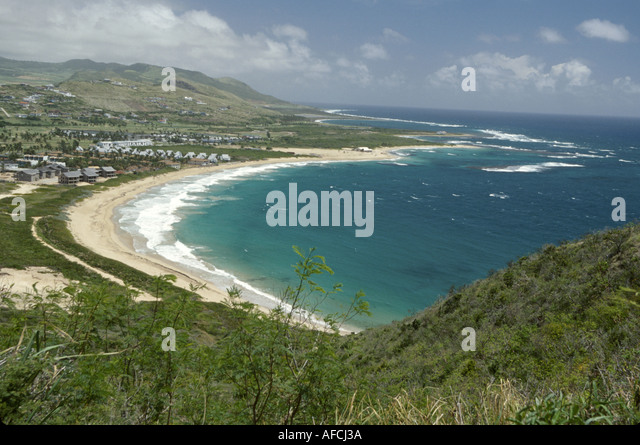 West Indies St. Kitts Southeast Peninsula view Atlantic Resort Jack Tar Resort - Stock Image