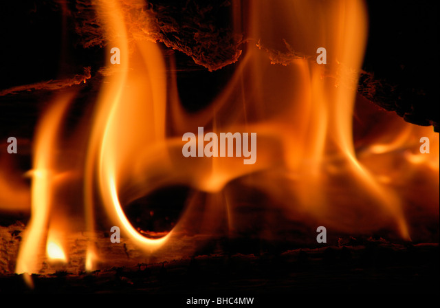 flame detail - Stock Image