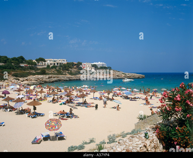 Porto Colom Beach Mallorca Stock Photos & Porto Colom Beach Mallorca Stoc...