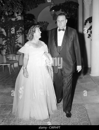John Jacob Astor VI and Mrs Beatrice Adams at the Everglades Club in Palm Beach, Florida, 1940s - Stock Image