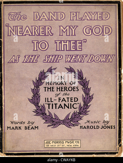 Sheet Music: The band played Nearer my God to thee as the ship went down - 1912 - Stock-Bilder