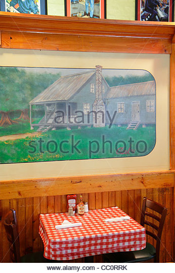 Louisiana New Orleans Warehouse District Convention Center Boulevard Mulate's Cajun restaurant business dining - Stock Image