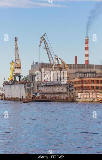 Almaz shipyard, Saint Petersburg, Russia - Stock Image