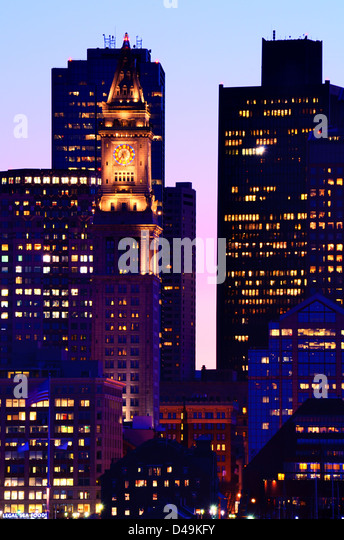 Financial District of Boston, Massachusetts. - Stock Image