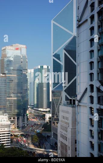 High rise buildings in Chung Wan, Hong Kong, China. - Stock Image